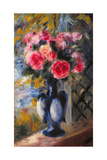 Bouquet of Roses in Blue Vase 1892