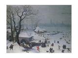 Winter Landscape Near Antwerp  1575