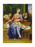 Madonna with Child  St  Joseph and John the Baptist  1563