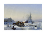 Sledge on Ice (Winter in a Former Wine Village)  1849