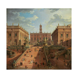 View of the Campidoglio  Rome  1750