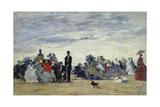 Am Strand Von Trouville  1865