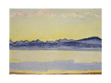 Mont Blanc with Red Clouds  1918