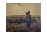 Shepherdess with Her Flock (La Grande Bergere)  1863