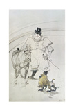At the Circus: Trained Pony and Baboon  1899
