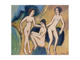 Three Bathers at the Beach  1913-20