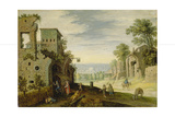 Landscape with Ruins and View of a Town  Ca 1620