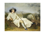 Goethe in the Roman Campagna  1787