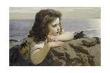Girl with a Lizard  1884