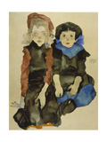 Two Young Girls  1911