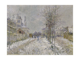 The Snow-Covered Boulevard De Pontoise at Argenteuil  1875