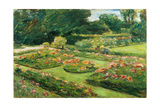 Flowering Garden Terrace of the Liebermann-Villa at the Shores of Lake Wannsee  1915