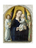 Madonna with Child Between Music Making Angels  1490-95