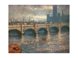 Westminster Bridge and the Houses of Parliament in London  1900-04