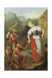 St Notburga  Distributing Alms to the Poor