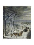 Detail From: Winter Landscape Near Antwerp  1590