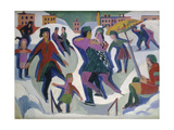 Ice Skating Rink with Skaters  1925