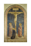 Crucifixion with the Virgin  Ss  John the Evangelist and Dominic  1442
