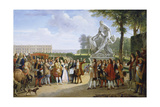 Ludwig XIV  at the Unveiling of the Sculpture Milon of Croton from P Puget  1814
