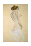 Standing Female Nude with White Shirt  1912