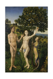 The Fall of Man  (Left Panel of a Diptych)