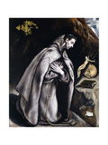 Saint Francis Kneeling in Meditation