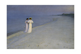 Summer Evening at Skagen (Anna Ancher and Marie Kroyer on the Beach at Skagen)  1893