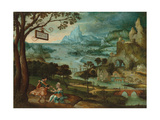 A Panoramic River Landscape with Judah and Tamar