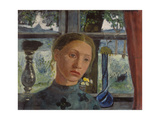 Girl's Head in Front of the Window