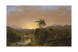 Sunset in Ecuador  1854