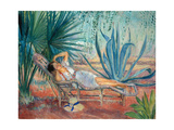 Marthe Taking a Break in a Deck Chair  Saint-Tropez  C 1910-15