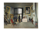 The Artist's Studio  Rue De La Condamine  Paris  1870