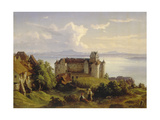 View of the Castle in Meersburg and the Lake Constance