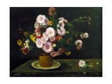 Still Life with Asters  1859