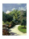 Girl in a Garden  C 1925