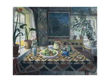 An Interior with a Still Life  the Parlour at Sandalstrand  1911