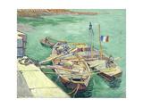 Rhonebarken  (Les Bateaux Amarrés)  1888