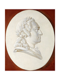 Portrait of King Louis XV  Bust-Length  in a Painted Oval  a Trompe L'Oeil Medallion