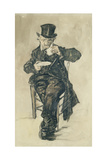 Man with a Top Hat Drinking a Cup of Coffee  1882