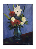 Vase with Gladioli and Other Flowers  1925