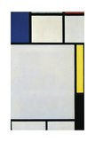 Composition with Blue  Red  Yellow and Black  1922
