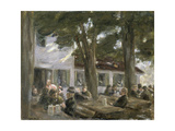 Beer Garden in Brannenburg  1896