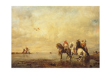 Falcon Hunt in the Sahara  1863