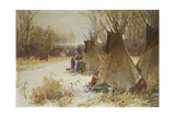 Indian Camp in the Snow