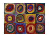 Colour Study - Squares and Concentric Bands  1913