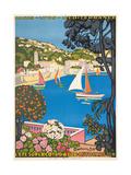 Summer on the Cote D'Azur (L'Été Sur La Cote D'Azur), 1926 Giclée par Guillaume G. Roger