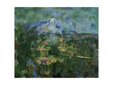 Mount St  Victoire from Les Lauves  1904-06