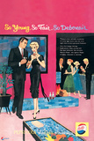 Pepsi - Young Fair Debonair Party  Vintage 1959 Ad