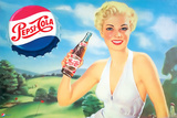 Pepsi - Girl in Green Meadow  1951 Artwork