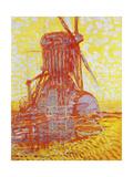 Rote Muehle Im Gegenlicht  1908